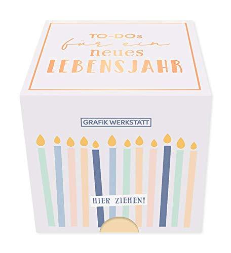 Grafik-Werkstatt Message in a Box |Geschenkidee | 30 Kärtchen zum abreissen | Geburtstag