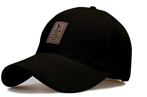 SellnShip Baseball Stylish Cap Men Women Unisex Sports Caps – Cotton Adjustable Free Size Snapback Mens Hat for Summer Winter (Black)