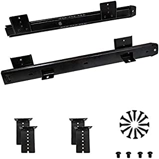 FRMSAET Heavy Duty 12/14/16/18 inches Thickness Steel Construction Ball Bearing Keyboard Slides Keyboard Drawer Slides Tray Accessories Cabinet Furniture Hardware Rails (14 inches, Black)