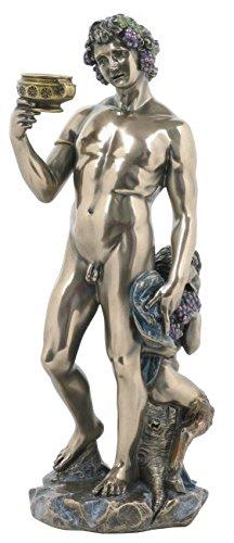 Bacchus Figur Gott des Weines Dionysus bronziert