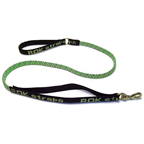 ROK straps Leash Strap, Green/Black, Medium