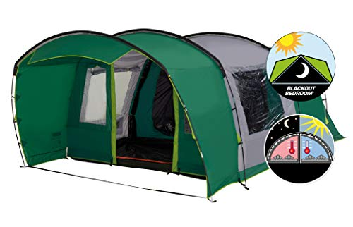 Coleman Tent Rocky Mountain 5 Plus XL, 5 Man Tent with BlackOut Bedroom Technology, 2 Bedroom Family...