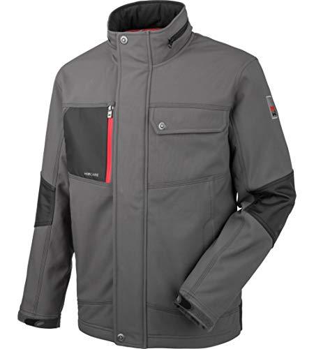 WÜRTH MODYF Nature Softshelljacke: Die max. Bewegungsfreiheit & die reflektierende Einsätze verbessern Ihre Sichtbarkeit. Die Jacke ist in M & Granitgrau verfügbar.