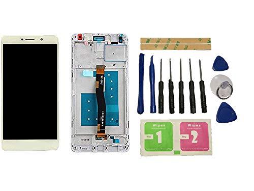 Flügel para Huawei Honor 6X BLN-AL10 BLN-L24 BLN-L21 BLN-L22 Pantalla LCD Pantalla Blanco Táctil digitalizador Completo Pantalla (con Marco) de Recambio & Herramientas