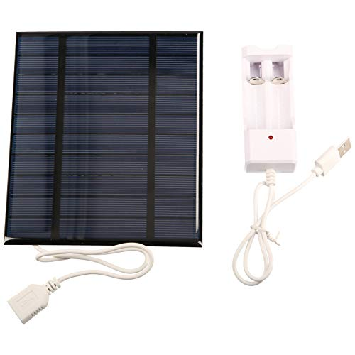 Kstyhome Panel Solar de 2.5W 5V 500mA con USB para teléfono móvil Ventilador 18650 Carga de batería Cargador de energía portátil Célula Solar de silicio policristalino DIY Panel Solar Impermeable