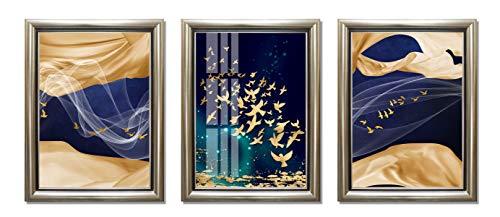 ABM Home - Cuadro de pared enmarcado, estilo vintage, lienzo enmarcado, póster grande (marco A Classic Champagne, 21B)