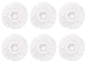 6 Pack Spin Mop Replacement Head for Hurrica Mopnad Casabel and Other Standard Size Spin Mop Systems Microfiber Spin Mop Refills