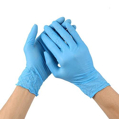 not Blaue Nitril-Einweghandschuhe Verschleißfestigkeit Chemische Laborelektronik Lebensmittel Medizinische Tests Arbeitshandschuhe L Blau