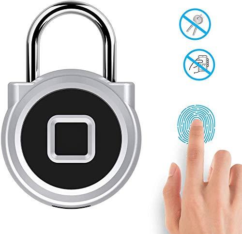 Smart Security Fingerprint Hangslot, IP66 Waterdicht Lock Met USB Charge Anti-Theft Keyless Hangslot Geschikt Voor Deur Van Het Huis, Koffer, Gym, Bike