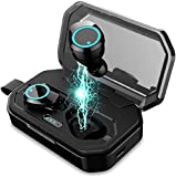 Wireless Earbuds, Bluetooth Headphones Bluetooth 5.0 Wireless Headphones 4D Surroud Heavy Bass IPX5 Waterproof True Wireless Stereo Headsets Noise Canceling