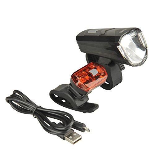 FISCHER LED Leuchtenset 30/15 Lux, Schwarz