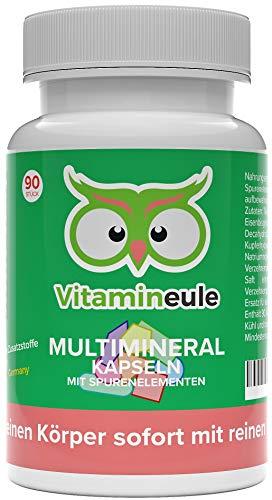 Multimineral Kapseln + Spurenelemente - hochdosiert & vegan - ohne Zusatzstoffe - höchste Qualität aus Deutschland- reiner Mineralien & Spurenelemente Komplex - Vitamineule®