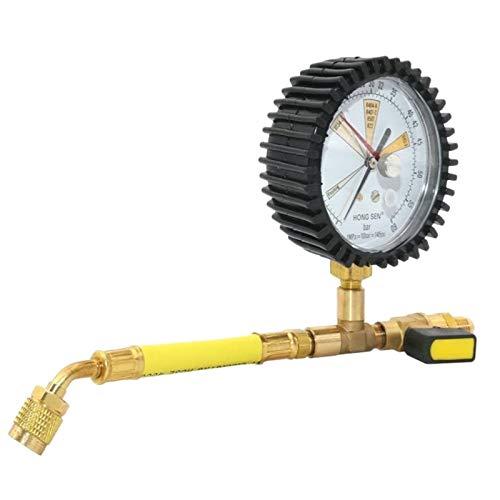 LIXUDECO Indicador de presión Aire Acondicionado Refrigeración Prueba de nitrógeno Presión de nitrógeno Mesa refrigerante Simple para, R22, R410A (Color : Yellow)