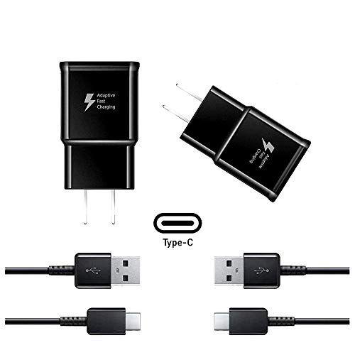 Adaptive Fast Charging Kit Compatible with Samsung Galaxy S8, S9, S9 Plus S10 Phone Wall Charger Note & Any Mobile Device That Uses USB Type C Cable Cord