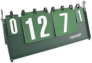 Liuer Marcador Deportivo Scoreboard Port/átil Digit Flip,Mesa Marcador de Competencia Deportiva para Baloncesto//F/útbol//Tenis//Badminton//Ping Pong 3 d/ígitos