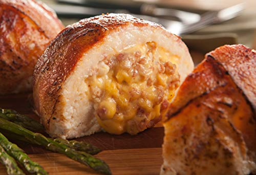 Burgers' Smokehouse Gourmet Stuffed and Bacon Wrapped Chicken Breast Filets (Applewood Smoked Bacon & Cheddar)