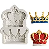 Cake Decor Plate - King Princess Queen Crown 3d Silicone Mold Fondant Cupcake Cake Decorating Clay Soap...