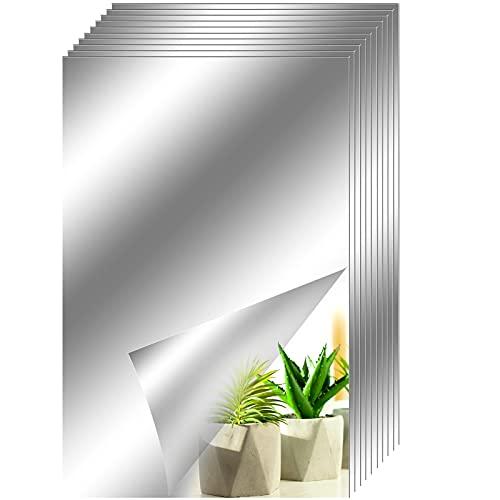 10 x Spiegel Wandaufkleber selbstklebend Mosaikfliesen PET Heimdekoration Spiegel Dekoration Wandbehandlungen für Badezimmer 23 x 15 cm