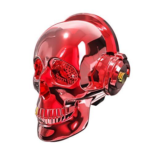 HAJZF - Altavoz Bluetooth con cabeza de calavera, inalámbrico, altavoz de audio AUX, tarjeta TF, reproductor de música estéreo para teléfono móvil, ordenador y altavoces