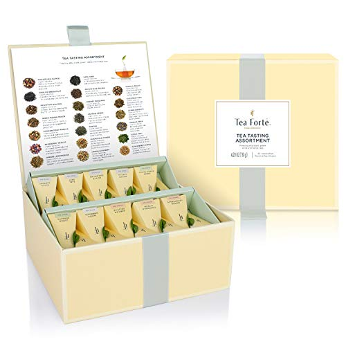 40 hochwertige Tee-Pyramiden in Geschenkbox