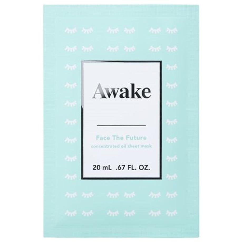 補償エージェント歩き回るアウェイク(AWAKE) Awake(アウェイク) フェイスザフューチャー コンセントレイティッド オイルシートマスク (20mL × 6枚入)