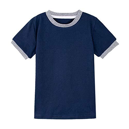 mintgreen Katoenen T-Shirts Voor Baby's en Kinderen, Zwaar en Zacht T-Shirt, Maat 12 Maanden-12 Jaar
