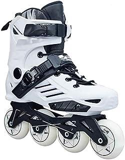 GUU 調整可能なインラインスケートクイックインラインローローラースケート調節可能サイズのスライディング障害物のプロフェッショナルな行アイススケートシューズシングルフラッシュ子供大人、2色、サイズ:35 EU / 4 US / 3 UK / 2...