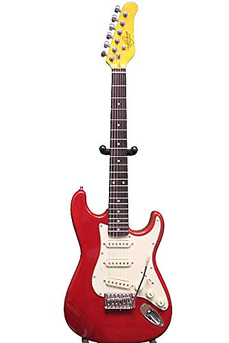 Oscar Schmidt 6 String Double Cutaway 3/4 Size Electric Guitar. Metallic Red, Right, (OS-30-MRD-A)