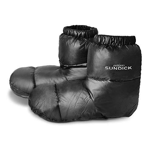 LIXADA 屋外ウォームダウンフットカバー 屋外キャンプスリッパ 寝袋用ウォームソックス 屋内ウォームブーツ 男性女性冬ダックダウンブーツスリッパブーツ
