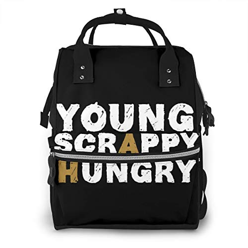 Iop 90p Young Scrappy & Hungry Multi Function Travel Mummy Backpack Diaper Bag Shoulder Bag