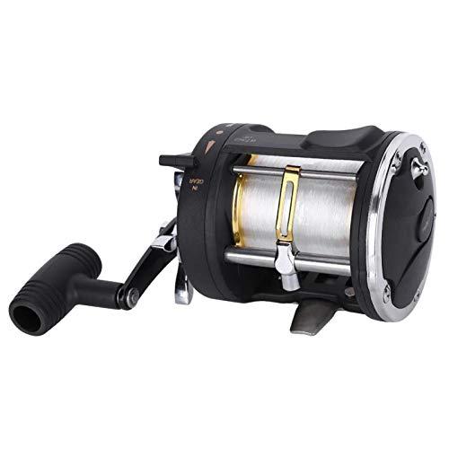Cerlingwee Rueda de Pesca para Barco Rueda de Pesca Línea de Pesca Resistente a la corrosión Aleación de Aluminio para Pesca en estanques Depósito al Aire Libre