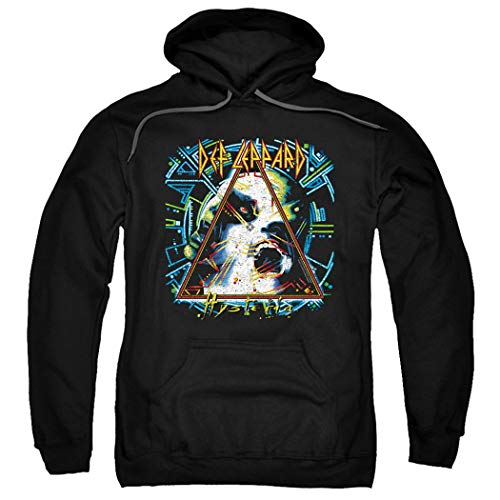 Def Leppard 80s Rock Band Hoodie with Free Stickers, 3 Colors, S to 3Xl