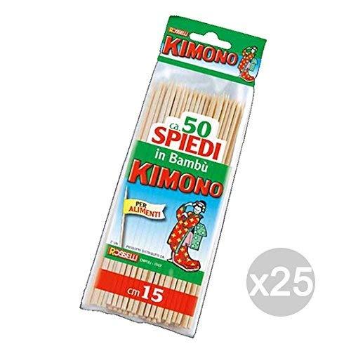 Kimono Lot de 25 cure-dents pour cuisine et table 15 x 29 cm
