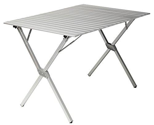 GRAND CANYON Familiy - campingtafel, opvouwbaar, aluminium, 112 x 80 x 72 cm, zilver, 308021