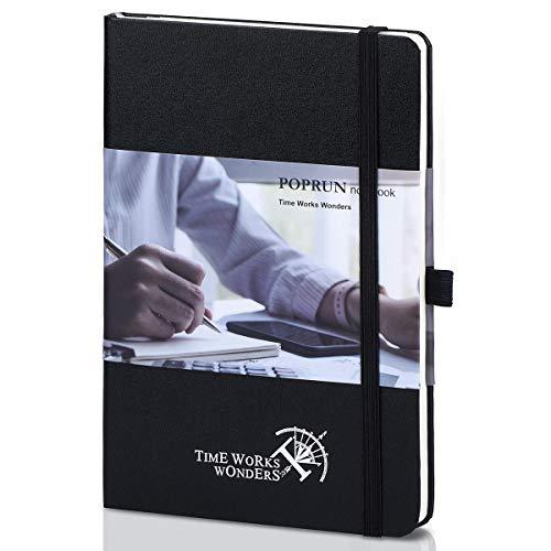 Taccuino Puntinato A5 Bullet Journal - Copertina Rigida Quaderno Punteggiato con 3 Indice, 235 Pagine Numerate e Tasca Espandibile, Nero