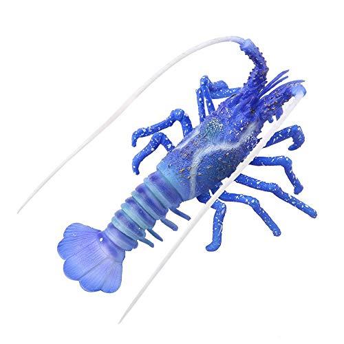 Pssopp Kunstmatig Aquarium Dierlijk Ornament Glow Simulatie Dierlijke Decoratie Lichtgevende Simuleren Kreeft Levensechte Siliconen Kunstmatige Kreeft Ornament, Blauw