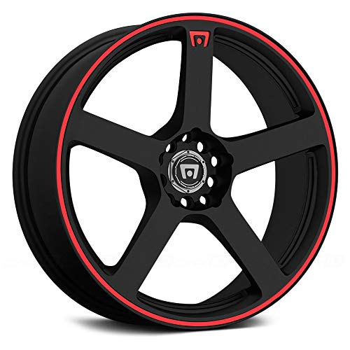 Motegi Racing MR116 Matte Black Finish Wheel with Red Accents (17x7'/5x100mm)