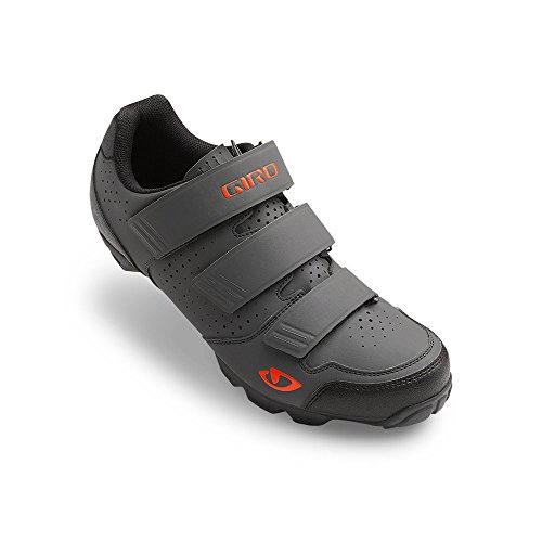 Giro Carbide R Mens Mountain Cycling Shoe − 39, Dark Shadow/Flame (2017)