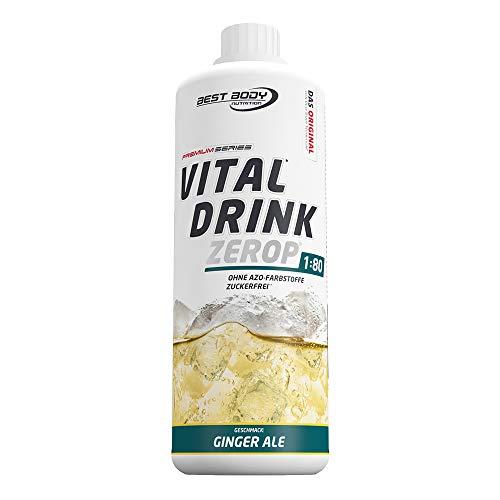 Best Body Nutrition Vital Drink Ginger Ale, zuckerfreies Getränkekonzentrat, 1:80 ergibt 80 Liter Fertiggetränk, 1000 ml