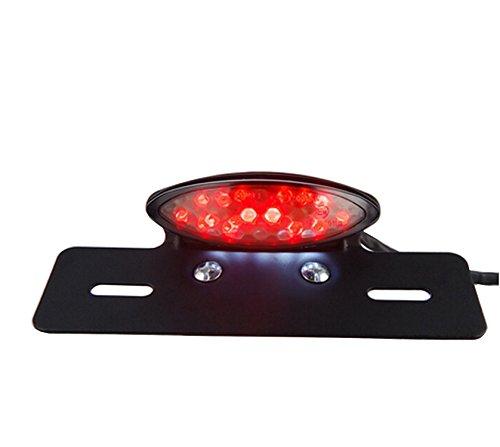 TASWK Motorcycle Tail Brake Stop License Plate Light LED Integrated Taillight Brake Light Red & White