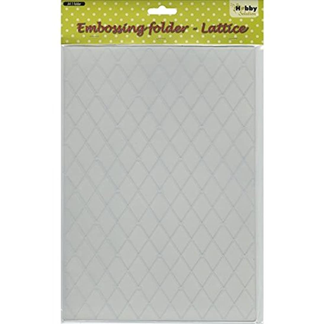 Ecstasy Crafts Nellie's Choice Embossing Folder, A4-Lattice