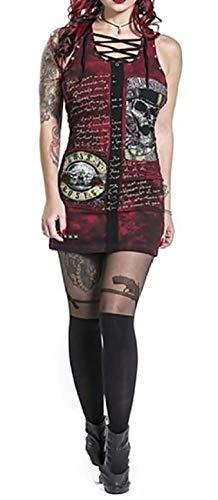 Vestido de Mujer Punk gótica - Rock - Vestido Corto Sexy - Stretch -