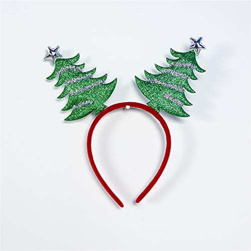 ZJF Antlers Double Bangs Hairstyle Hairpin Christmas Decorations Merry Christmas Decor 2021 New Year0 (Color : 2 Tree)
