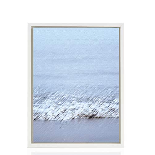 Stallmann Design Schattenfugenrahmen 50x70 cm (PUZZLEFORMAT) weiß für Leinwand Bilderrahmen Keilrahmen für Leinwände aus Holz MDF