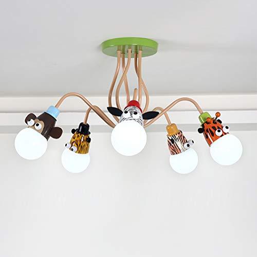 Deckenleuchte Kinderzimmerlampe Deckenlampe Modern Junge Schlafzimmer Mädchenzimmer Cartoon Tier Design Decolampe Eisen Pendelleuchte Für Kinder Bad Wohnzimmer Esszimmer Jugendzimmer Hausleuchten E27