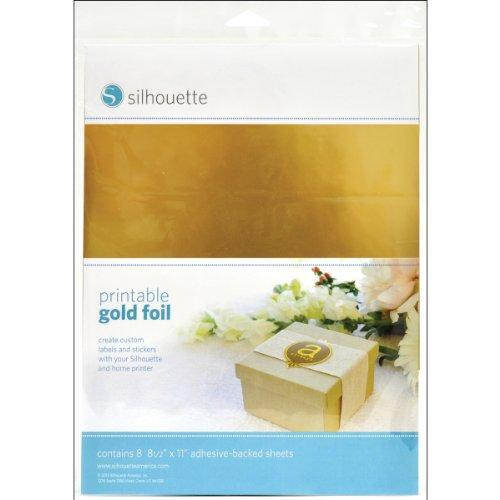 Silhouette America Media-GLD-ADH Bedruckbare Folie für Etiketten und Aufkleber Gold