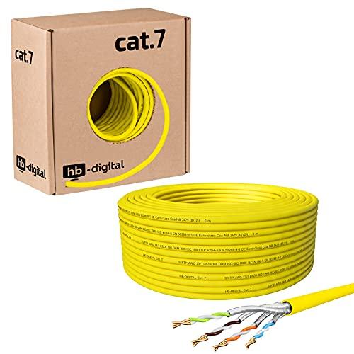 HB Digital - Cavo di Rete LAN, Cavo di Installazione, Cabel Cat 7, dirame, AWG 23/1 Profi LAN Kabel 25 m