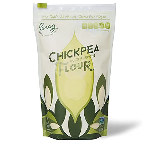 Pereg Chickpea Flour (16 Oz) - Multipurpose Flour - Naturally Gluten Free - Non GMO - For Cooking, Baking, Coating & Thickening - Ground Gram Flour Chana Besan