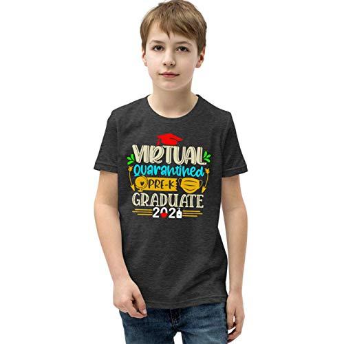 Virtual Pre-K Graduate 2021 Quarantined Youth T-Shirt for Kids, Pre-K 2021 Shirt Dark Heather