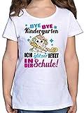 Einschulung und Schulanfang - Ich Glitzer jetzt in der Schule Einhorn mit Schultüte - Fuchsia - 140...